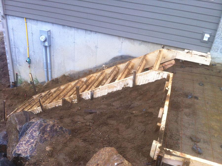 Coffrage escalier ext rieur construction r novation moderne - Coffrage escalier exterieur ...