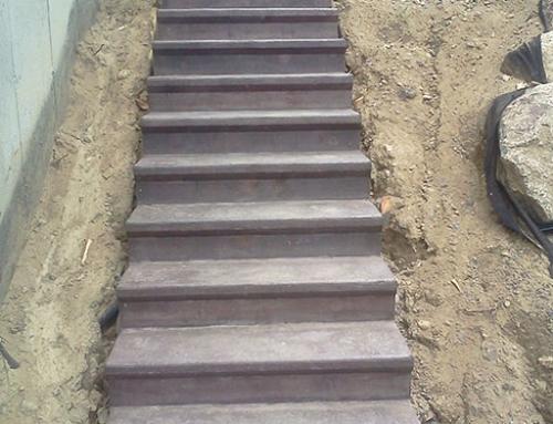 Coffrage – Escalier extérieur