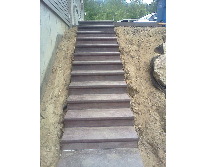 Coffrage escalier ext rieur construction r novation for Construction escalier exterieur